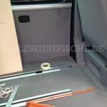 Den Platz im VW Bus ausmessen