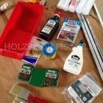 Diverse Materialien für das Projekt
