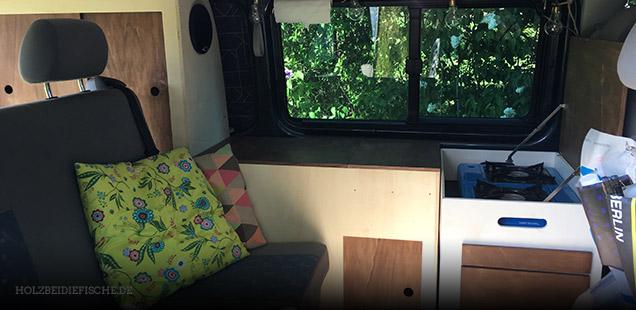 Projekt Innenausbau für Camper VW Bus T5