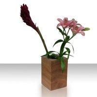Moderne Deko Vase aus Holz - Designer Holzvase EP 22 von uniic