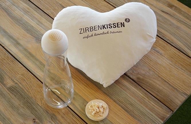 Zirbenholz Accessoires Zirbenkissen von HolzLand Köster in Hildesheim