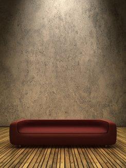 Sofa im Scheinwerfer