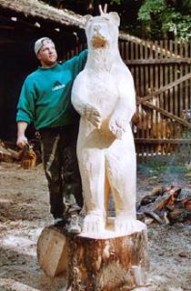 Wildtiere  Stephan Hbscher Holzskulpturen