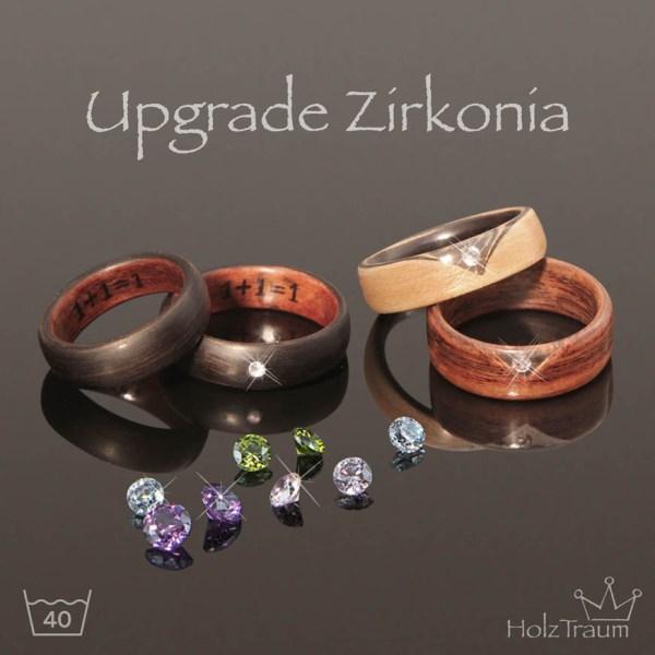 Zirkonia Steine Diamanten für Holzringe Bentwood Ringe
