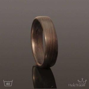 schwarzer Holzring aus Räuchereichenholz Verlobungsring