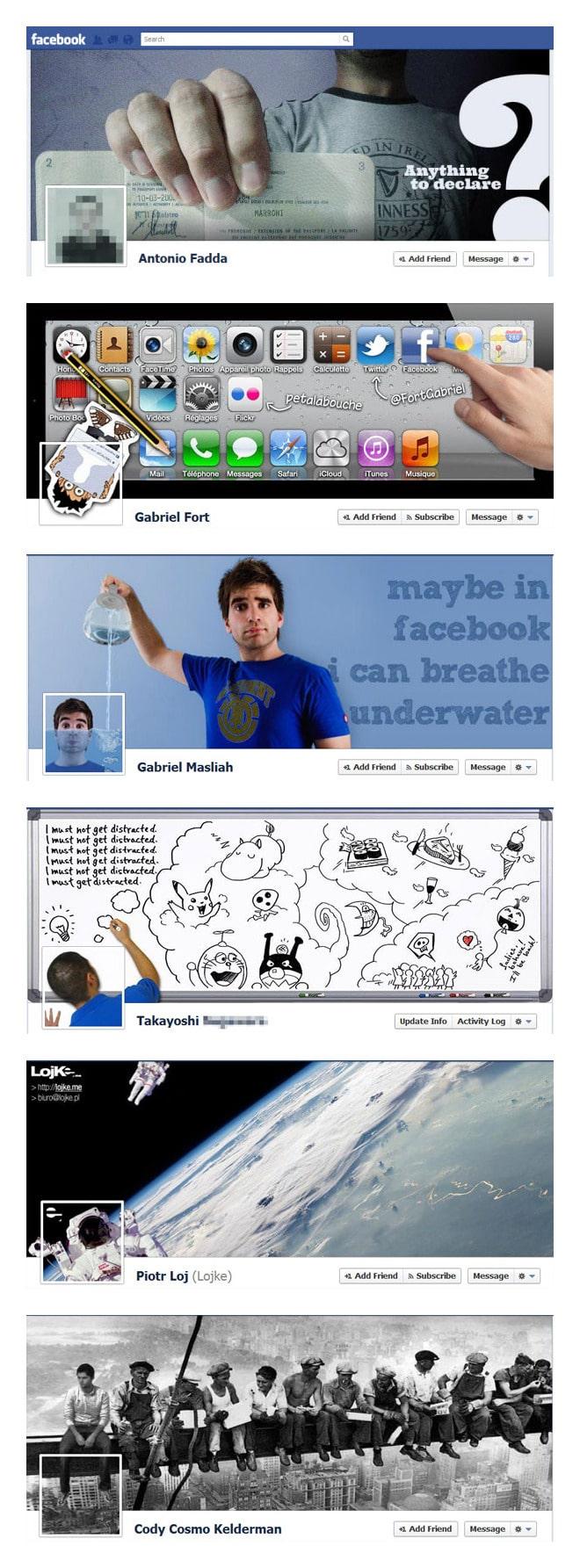 Las portadas más curiosas y originales de Facebook