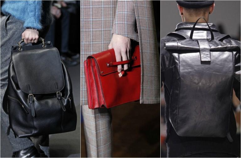Accesorios para hombres: mochilas, bolsos y carteras S/S 2018