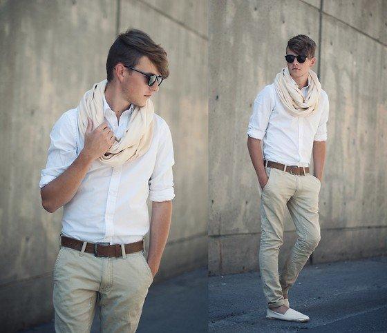 Así son las camisas blancas que usa el hombre moderno