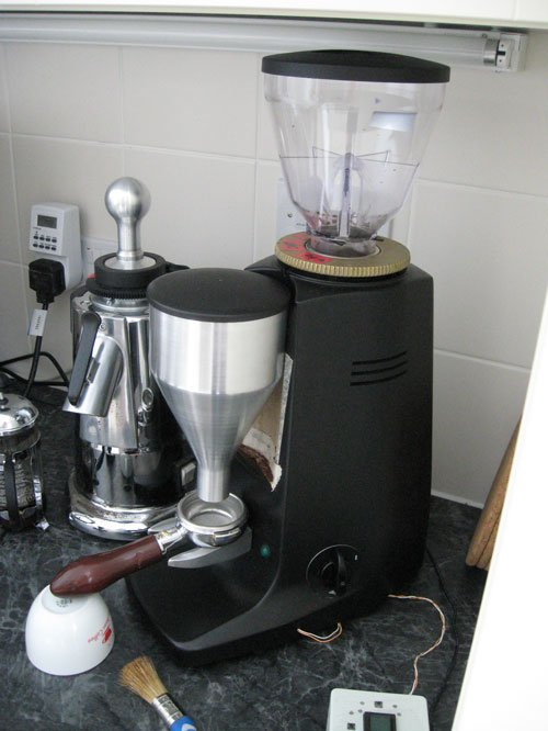 Mazzer Major doserless funnel conversion