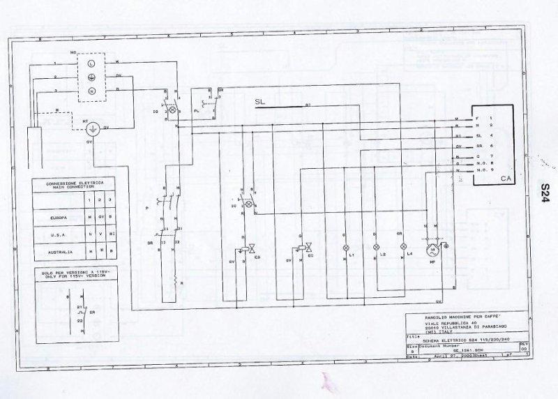 Rancilio S20 wiring scheme