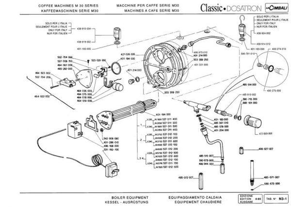 La Cimbali M30 classic rebuild