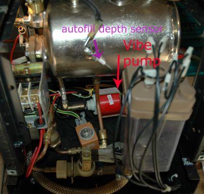Cimbali Junior D1 vibe pump plumbing question