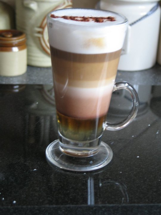 Layered Latte I was feeling experimental today