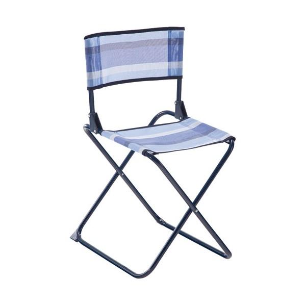 chaise pliante en acier bleu