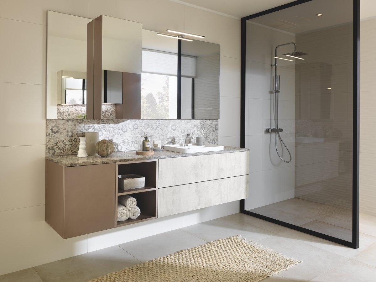 salle de bains beige schmidt
