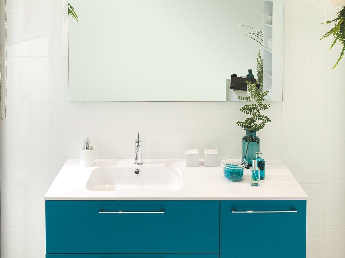 salle de bains bleue schmidt