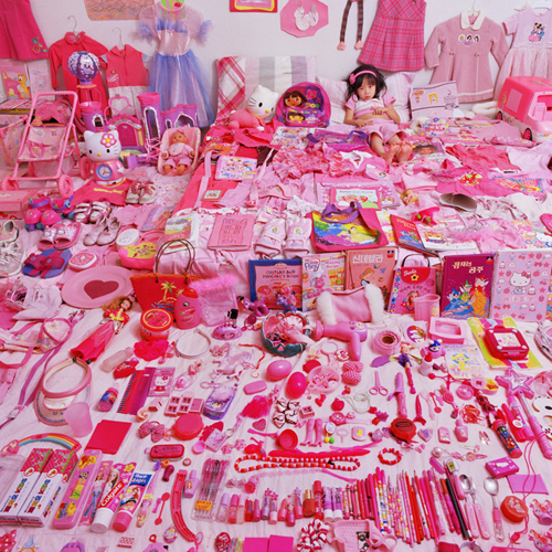 pink cute girls room