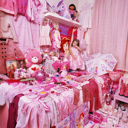 pink shy princess room