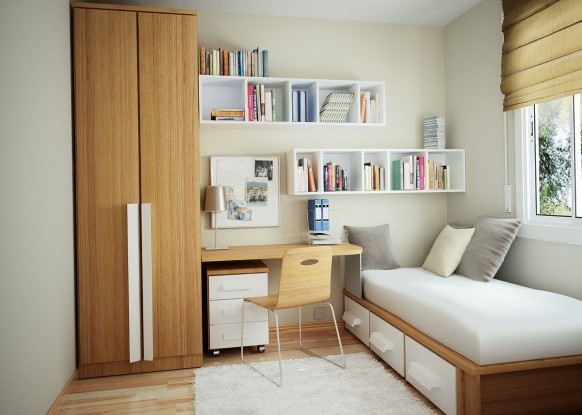 minimal furniture in the room