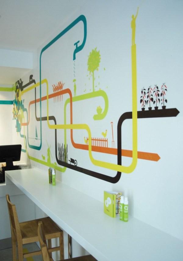 Restaurant Interior Design Wall Graphic