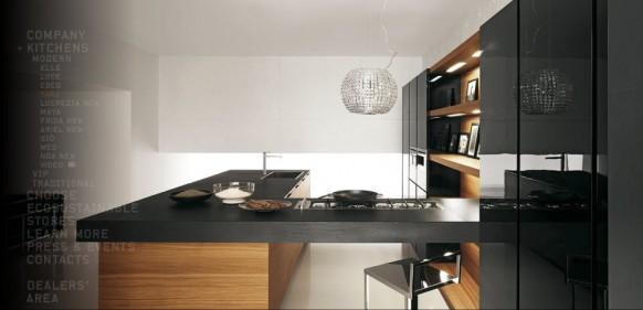 beige black kitchen