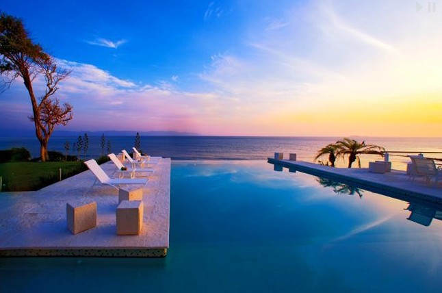 casachina blanca sunset by pool