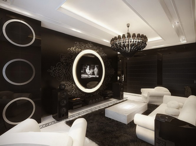 black and white living room 2