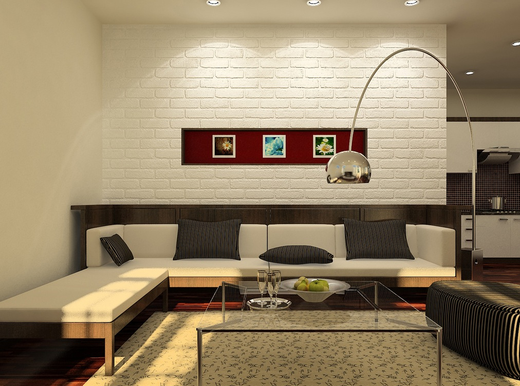 ceiling design ideas for small living room with hardwood floors simple cool bedroom red brick wall