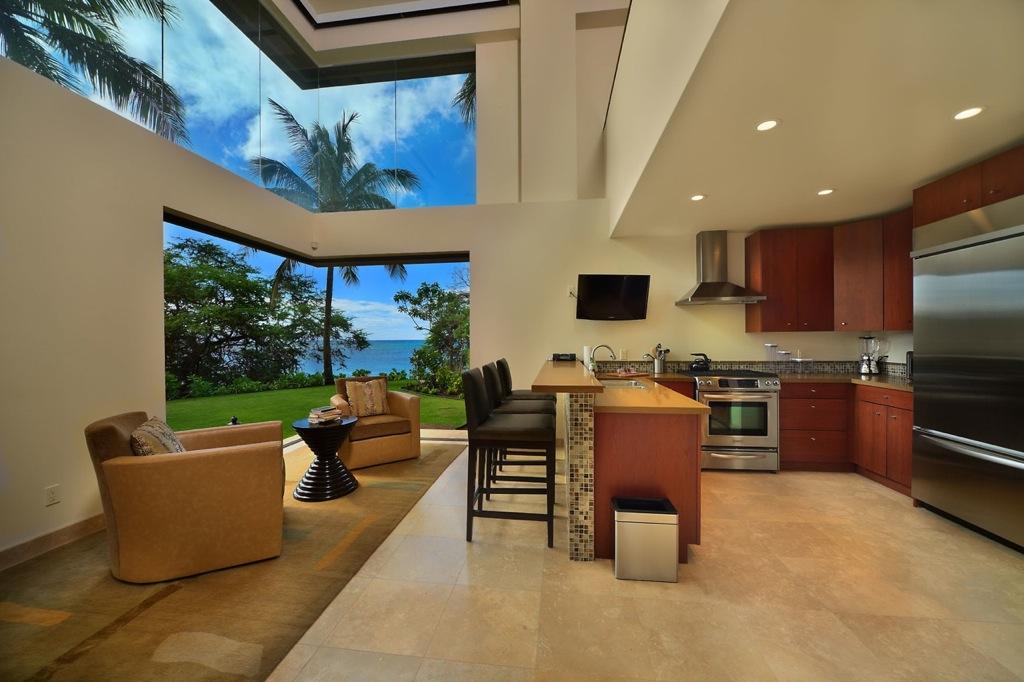 kitchen remodel hawaii commercial hot box hawaiian style design lavender interiors living room jewel of kahana house beachside in maui