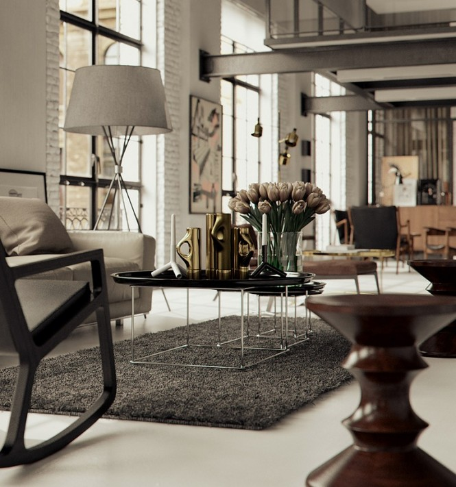 Classic modern interior render by BBB
