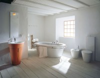 Philipe Starck rustic modern bathroom decor