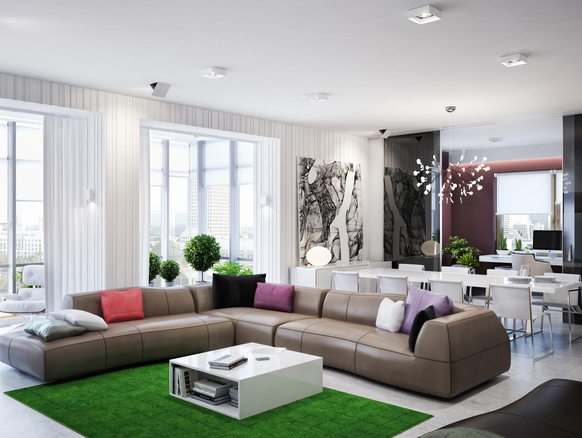 Modern Zoning in Ukrainian Apartment