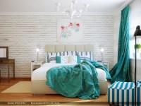 turquoise bedroom accessories 2017 - Grasscloth Wallpaper