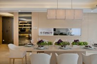 subtle mulberry and cream accessorized modern dining steve ...