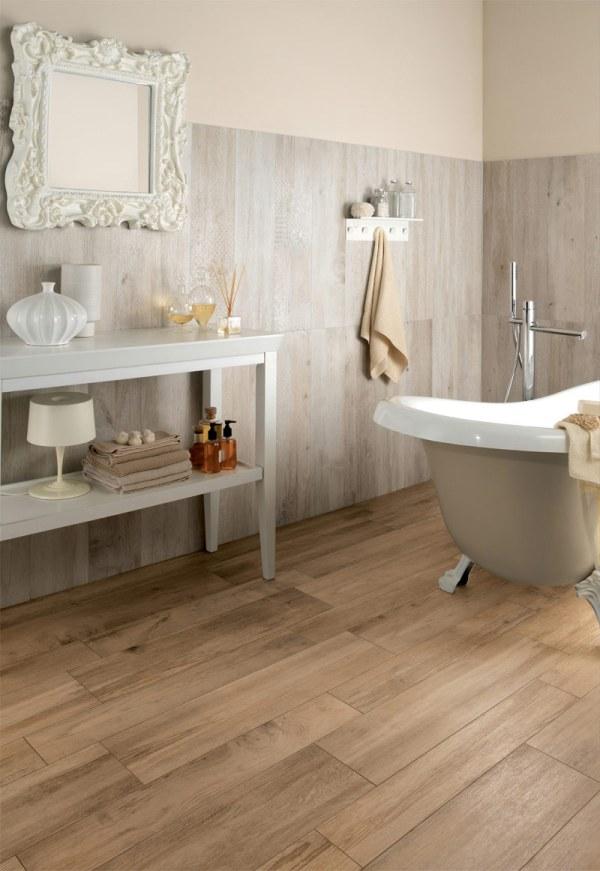 Wood Look Floor Tiles Bathroom