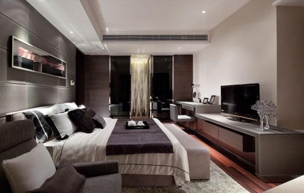 modern master bedroom design Synergistic Modern Spaces by Steve Leung