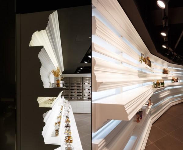 column edging bakery shelves
