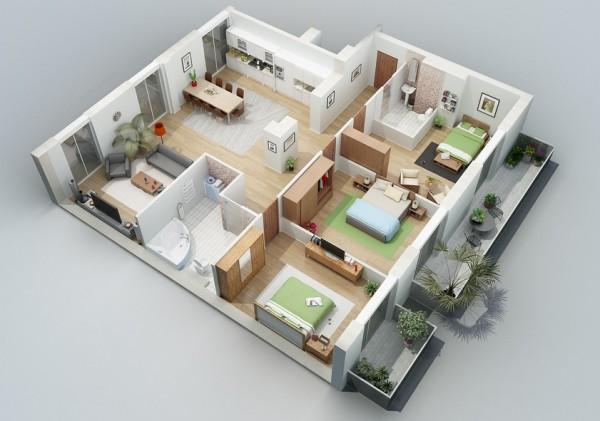 greenery balcony apartment