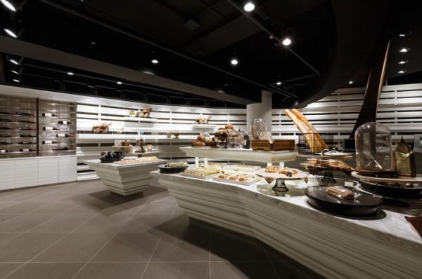 open layout wine bakery