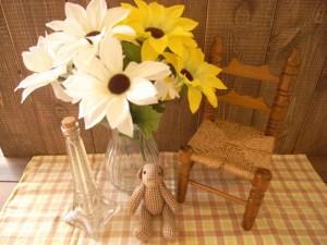 草花を飾る 造花で
