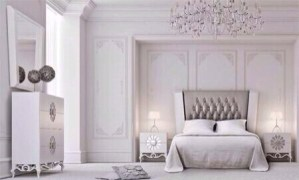 clip:白xアイボリーxベージュ ベッドルーム
