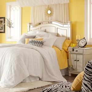 clip:黄色xアイボリー 寝室