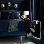 [clip]青+白 部屋を映す光沢の青い寝室