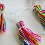 毛糸でデコレーション