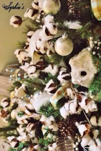 綿花でクリスマスデコレーション