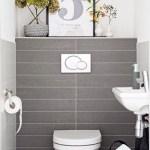 狭いトイレでもデザインを諦めない