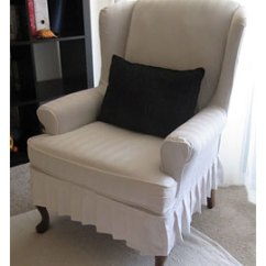 How To Make Slipcover For Wingback Chair Painting Fabric Chairs Home Dzine Craft Ideas Or Reupholster A