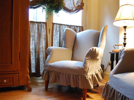 how to make slipcover for wingback chair doll bouncy home dzine craft ideas or reupholster a
