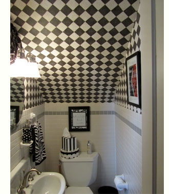 Home Dzine Home Decor Ideas For Using Space Under The Stairs   Under Stair Toilet Design   Toilet Separate   Small   Powder Room   Down   Minimalist