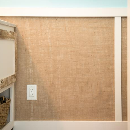 HOME DZINE Bathrooms  Burlap wall panels for a bathroom
